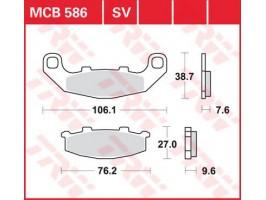 Тормозные колодки TRW LUCAS MCB586 Kawasaki EX250, GPZ500