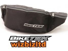 Мотосумка поясная BikeIt черно-серая