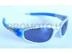 Очки от солнца серо - синие с серой линзой