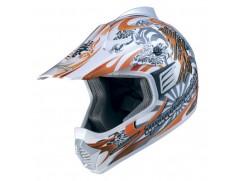 Мотошлем кроссовый MARUSHIN XMR Pro Poizun оранж/бел p.XXS