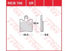 Тормозные колодки  TRW LUCAS MCB 706 SW