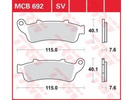 Тормозные колодки TRW LUCAS MCB692 Honda VFR, Gold Wing, Blackbird