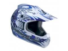 Мотошлем кроссовый MARUSHIN XMR Pro Poizun сине/бел p.S