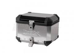 Алюминиевый мотокофр центральный TraX EVO 38л серебристый