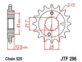 Звезда передняя JT JTF296.16