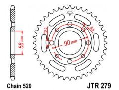Звезда задняя JTR279-31