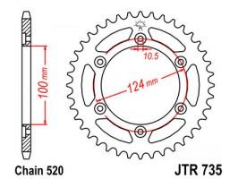 Звезда задняя JTR735.41