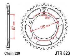 Звезда задняя JTR823.49