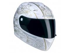Шлем MARUSHIN 888 Shivan, бело-золотистый, спецдизайн, p.L