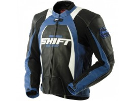 Мотокуртка SHIFT SR-1 Leather Jacket Black/Blue