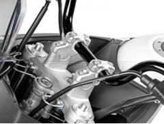 Варио-адаптер для руля 28 мм с изменяемым углом наклона, серебристый