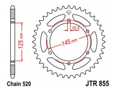 Звезда задняя JTR855-46