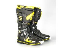 Кроссовые мотоботы FORMA PREDATOR черно-желтые