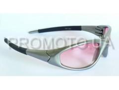 Очки от солнца серые с розовой линзой