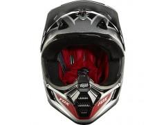 Мотошлем FOX V3 RACE helmet черно-серебристый