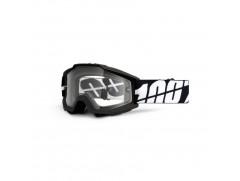 Мотоочки 100% ACCURI Moto Goggle Black Tornado Enduro- прозрачная линза