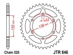Звезда задняя JTR846.45