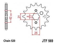 Звезда передняя JT JTF569.13