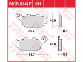 Тормозные колодки  TRW LUCAS MCB634