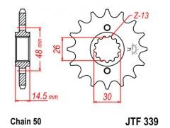 Звезда передняя JTF 339.16