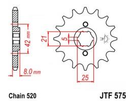 Звезда передняя JTF 575-16