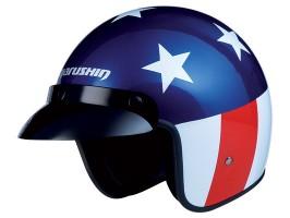 Мотошлем MARUSHIN C130 stand-liner US Rider, сине-бело-красный, p.S