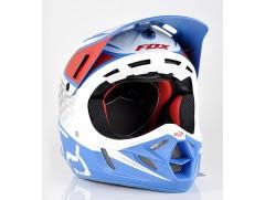 Мотошлем кроссовый FOX V4 REED OUTDOOR REPLICA helmet бело-красно-синий