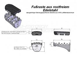 Подножки водителя на Honda CRF1000L Africa Twin