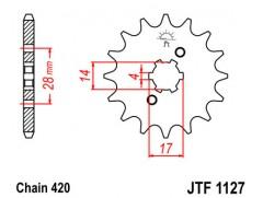Звезда передняя JTF1127-14