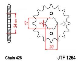 Звезда передняя JTF 1264.16