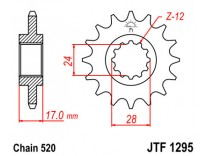 Звезда передняя JTF 1295.15