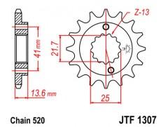 Звезда передняя для Kawasaki ZX-6R (03-06)