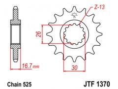 Звезда передняя JTF 1370.15