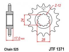 Звезда передняя JTF 1371.15
