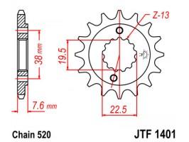 Звезда передняя JTF 1401.14