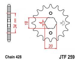 Звезда передняя JTF 259.15
