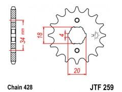 Звезда передняя JTF 259.16