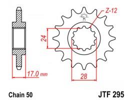 Звезда передняя JTF 295.15 для HONDA CBR600F