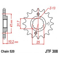 Звезда передняя JTF 308.13