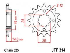 Звезда передняя JTF 314-15