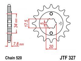 Звезда передняя JTF 327-13