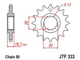 Звезда передняя JTF 333.15