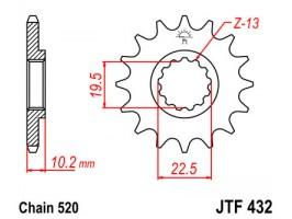 Звезда передняя JTF 432.13