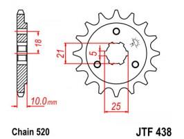 Звезда передняя JTF438.15
