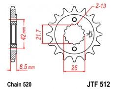 Звезда передняя JTF 512.16