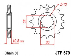 Звезда передняя JTF 579.17