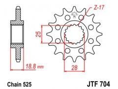 Звезда передняя для BMW F650GS, F700GS, F800GS JT