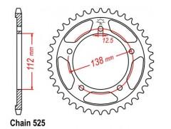 Звезда задняя Sunstar на Honda CBR600 F4 (99-00)