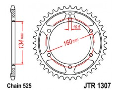 Звезда задняя JTR1307-45