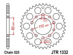 Звезда задняя JTR1332.45
